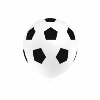 Bolsa 8 globos fútbol rojo-blanco