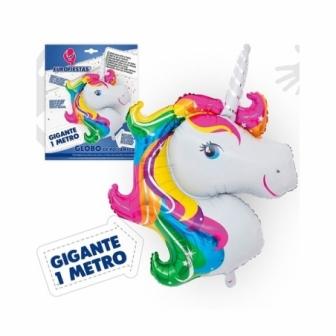 Globo Poliamida 1 M. Unicornio-Arco iris