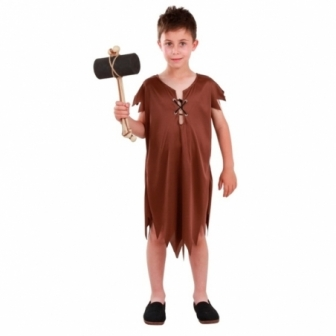 Disfraz Troglodita marrón para niño
