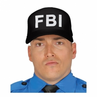 Gorra negra F.B.I. adulto