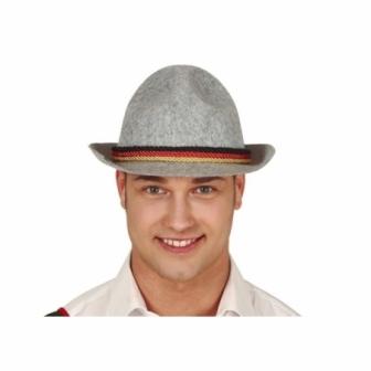 Sombrero fieltro gris tirolés adulto