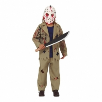 Disfraz Asesino con máscara infantil