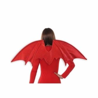 Alas rojas glitter 90x35 cms.