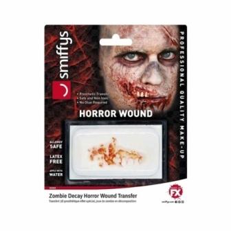 Heridas horror adhesivas zombie deluxe
