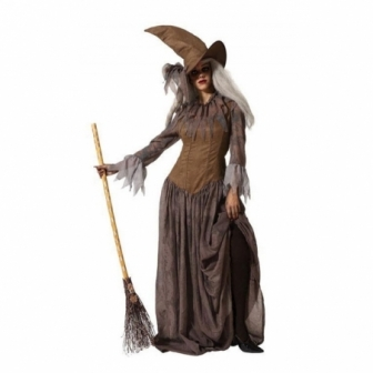 Disfraz Bruja marrón para mujer
