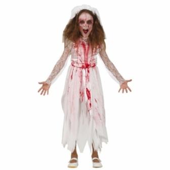 Disfraz Novia sangrienta para niña