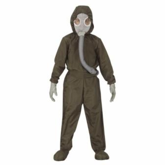 Disfraz agente nuclear infantil