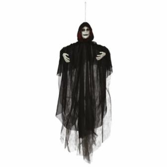 Colgante encapuchado negro 70 cms.