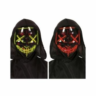 Máscara negra con luz surtidas