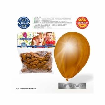 Paquete 30 globos metalizado eurofiestas