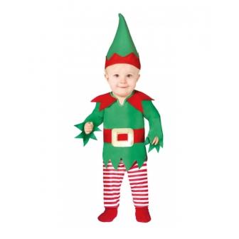 Disfraz Elfo pantalon a rayas bebe