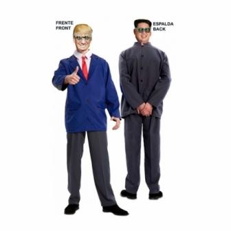 Disfraz doble Fun Trump-Kim Jong adulto