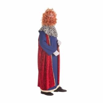 Disfraz Rey Mago capa roja adulto