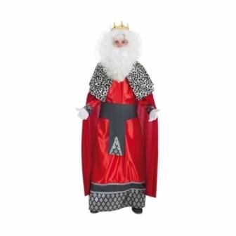 Disfraz Rey Mago rojo adulto T.M/L