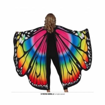 Alas de mariposa multicolor grandes