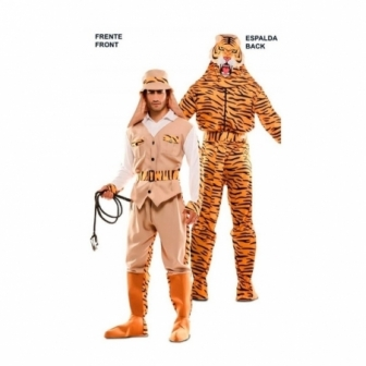 Disfraz doble Fun Cazador-Tigre adulto