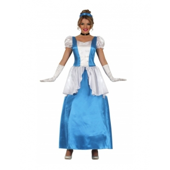 Disfraz Princesa azul para mujer