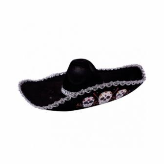 Sombrero mexicano día de los muertos Ad.