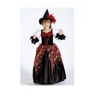 Disfraz Bruja Kyra para niña deluxe