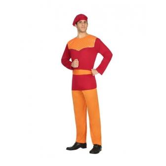 Disfraz Paje rojo económico adulto