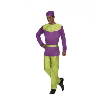 Disfraz Paje violeta económico adulto