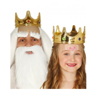 Corona Rey o Reina  infantil plastico