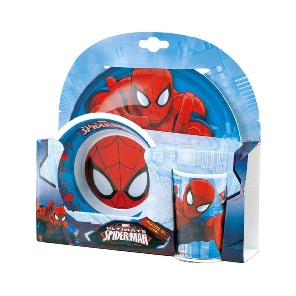 Set Vajilla melamina Spiderman 3 piezas