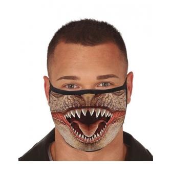 Mascarilla boca Dinosaurio 3 capas tela