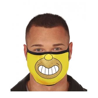 Mascarilla personaje amarillo 3 capas