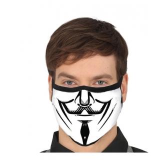 Mascarilla anonima 3 capas en tela