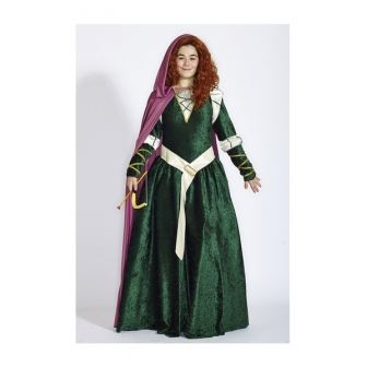 Disfraz Mérida para mujer lujo