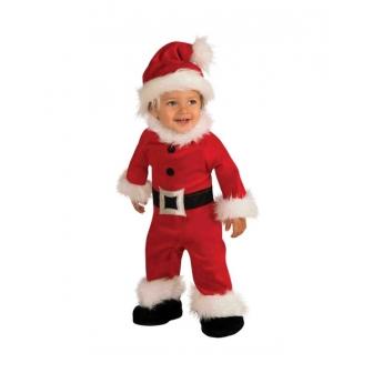 Disfraz Papa Noel luxe para bebés