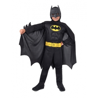 Disfraz Batman Musculoso Negro Infantil