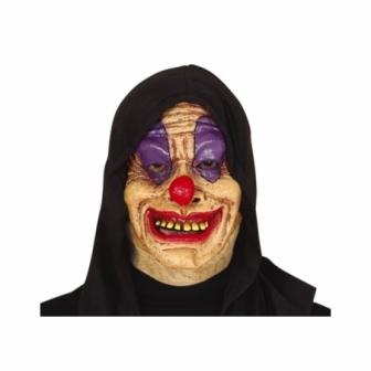 Máscara Payaso látex con capucha