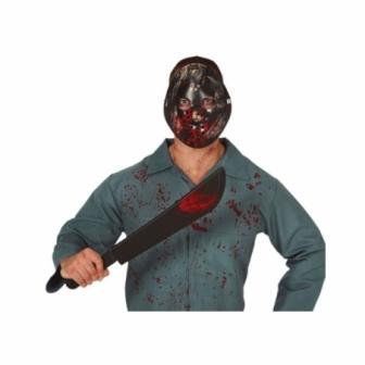 Set Máscara + machete con sangre