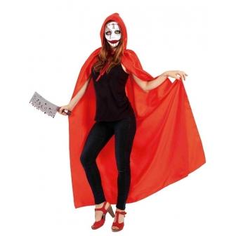 Capa Roja con Capucha y Máscara