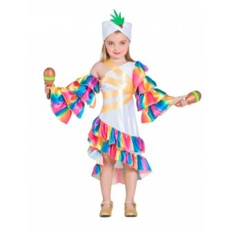 Disfraz Rumbera blanca para niña