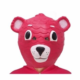 Máscara Oso rosa látex