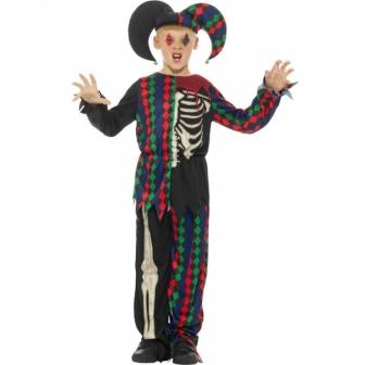 Disfraz de Bufón Esqueleto para niño