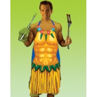 Delantal Hawaiano Hombre Plástico