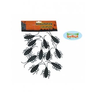 Bolsa 12  Escarabajos 7 Cm