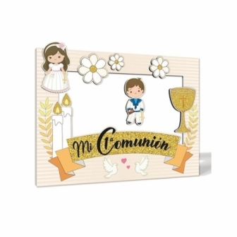 Photocall Comunión Oro