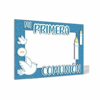 Photocall Comunión Azul