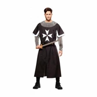 Disfraz de Cruzado medieval negro adulto