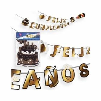 Guirnalda F.Cumpleaños Champán