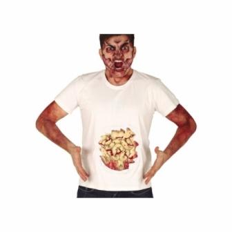 Camiseta con Tripas de látex adulto
