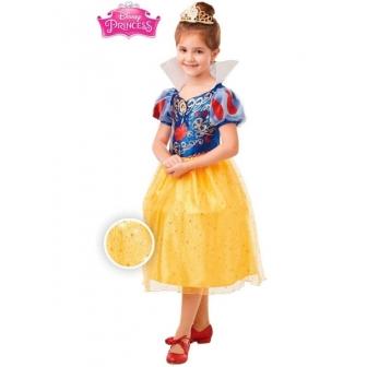 Disfraz Blancanieves Glitter DLX niña