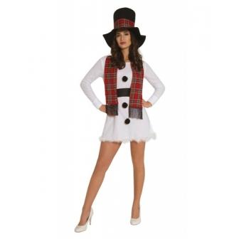 Disfraz vestido muñeco nieve mujer