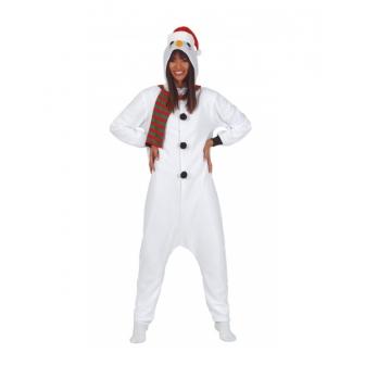 Disfraz Muñeco nieve pijama para mujer