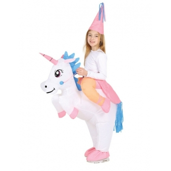 Disfraz Unicornio Hinchable para niña